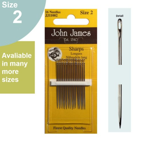 Hand Sewing Needles Sharps Size 2