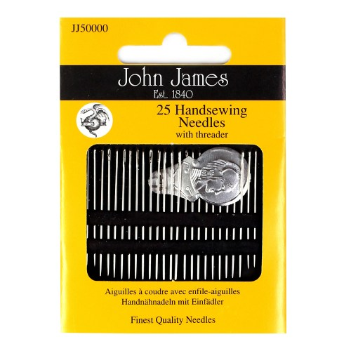 JOHN JAMES HOUSEHOLD NEEDLES 12  ASSORTED SIZE SEWING CRAFTS PEBBLE JJP 10300