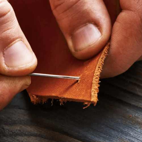 Needles for sewing leather