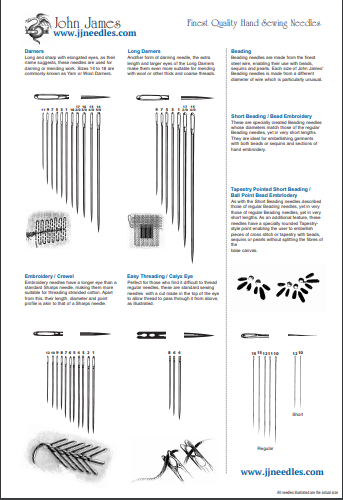 graphic relating to Knitting Needle Size Chart Printable known as Needles Direct